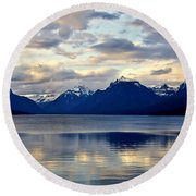 Glacier Morning Round Beach Towel