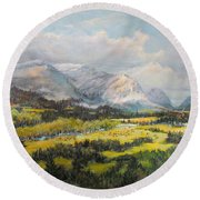 Glacier Splendor Round Beach Towel