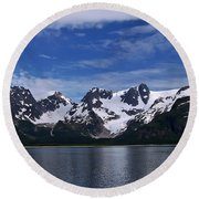 Glacier View Round Beach Towel by Aimee L Maher Photography and Art Visit ALMGallerydotcom
