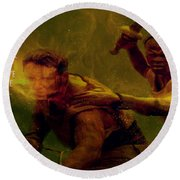 Round Beach Towel featuring the photograph Gladiator  by Brian Reaves