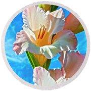 Gladiolus Round Beach Towel