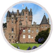 Glamis Castle Round Beach Towel