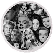 Glamour Girls 2 Round Beach Towel
