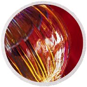 Glass Abstract 567 Round Beach Towel