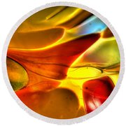 Glass And Light Round Beach Towel by Charles Hite