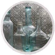 Glass Bottles 1 Round Beach Towel