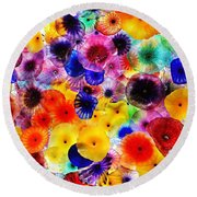 Glass Garden Round Beach Towel