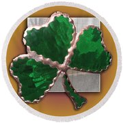 Glass Shamrock Round Beach Towel