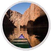 Glen Canyon Kayaking Round Beach Towel