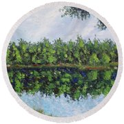 Glenoak Lake Round Beach Towel