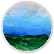 Glimpse Of The Splendor Round Beach Towel