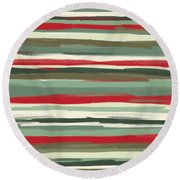 Gloomy Beach Day Round Beach Towel by Lourry Legarde