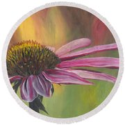'glory In Bloom' Round Beach Towel