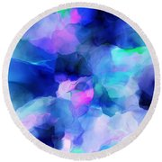 Round Beach Towel featuring the digital art Glory Morning by David Lane