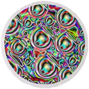 Glow. Colorful Design Round Beach Towel by Oksana Semenchenko