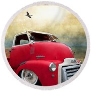 Gmc 350 Round Beach Towel by Liane Wright