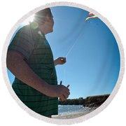 Go Fly A Kite Round Beach Towel