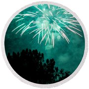Round Beach Towel featuring the photograph Go Green by Suzanne Luft