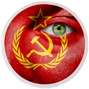 Go Ussr Round Beach Towel