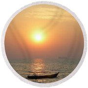 Goa Sunset Round Beach Towel