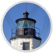 Goat Island Lighthouse Round Beach Towel