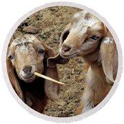 Goats #2 Round Beach Towel