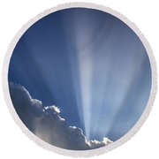 God Rays Round Beach Towel