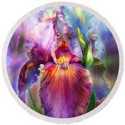 Goddess Of Healing Round Beach Towel