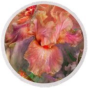 Goddess Of Spring Round Beach Towel
