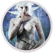 Goddess Of Water Round Beach Towel