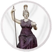 Goddess Roma Triumphans Round Beach Towel