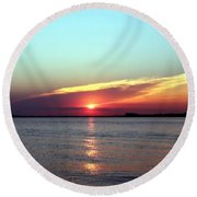 Round Beach Towel featuring the photograph Gods Creation by Debra Forand