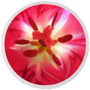 God's Floral Canvas 2 Round Beach Towel