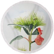 Flowering Gum Tree Round Beach Towel