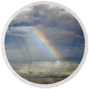 God's Promise Round Beach Towel by Charles Beeler