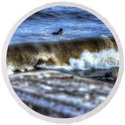 Going Going Gone Round Beach Towel