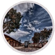 Round Beach Towel featuring the photograph Going To Jerusalem by Ron Shoshani