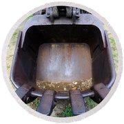 Gold Mining Steam Shovel Bucket Close-up Round Beach Towel