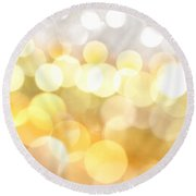 Gold On The Ceiling Round Beach Towel