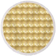 Gold Sparkle Tone Pattern Unique Graphics Round Beach Towel by Navin Joshi