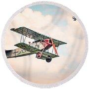 Golden Age Of Aviation - Replica Fokker D Vll - World War I Round Beach Towel