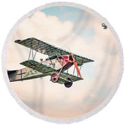 Golden Age Of Aviation - Replica Fokker D Vll - World War I Round Beach Towel