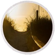 Golden Beach Access Round Beach Towel