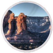 Round Beach Towel featuring the photograph Golden Buttes by Lynn Geoffroy