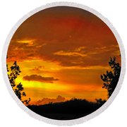 Round Beach Towel featuring the photograph Golden Dawn by Mark Blauhoefer