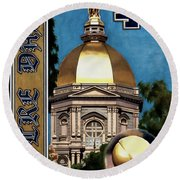 Golden Dome Round Beach Towel