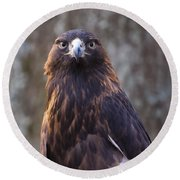 Golden Eagle 4 Round Beach Towel