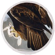 Golden Eagle Round Beach Towel by John James Audubon