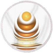 Golden Egg Round Beach Towel