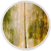 Golden Falls  Round Beach Towel